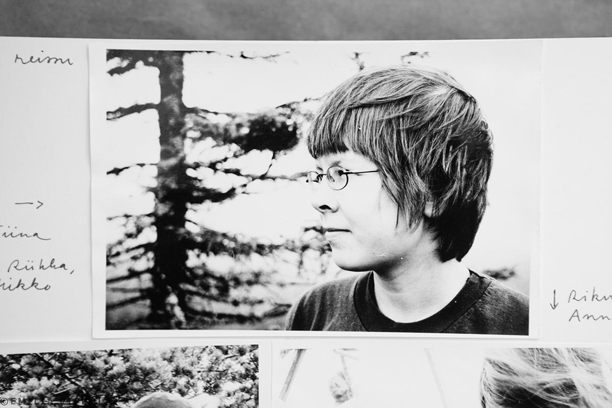 Annan 20-vuotiskuva Riisitunturilla heinäkuussa 2001.