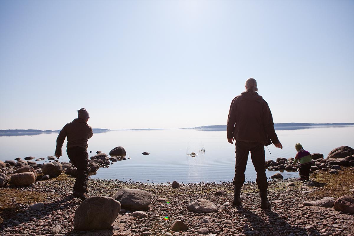 Pääsiäisenä 2014 Paraisten Nötössä. Majapaikkana majatalo Backaro.
