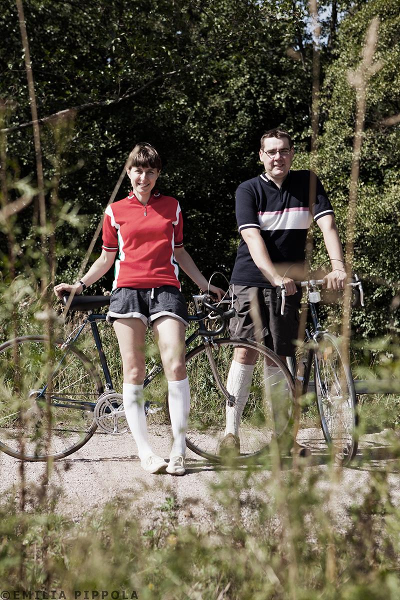 Eero ja Kate valmiina wauhtiajoihin.